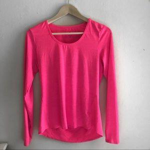 Athleta long sleeve pink top